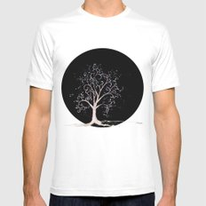 Dark elven tree MEDIUM Mens Fitted Tee White