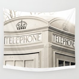 London telephone booth Wall Tapestry