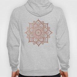 New Rose Gold Mandala Hoody
