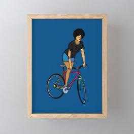 Track Stand Framed Mini Art Print