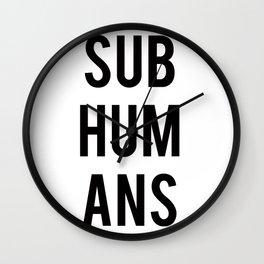 Subhumans Wall Clock