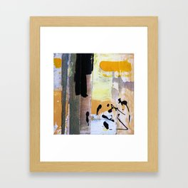 Yellow Hypothetical Landscape Framed Art Print