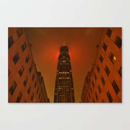 Rockefeller Center in the Rain Canvas Print