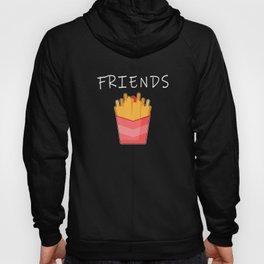 Beste Freunde designs für 2 Mädchen Pommes Frites passenden T Hoody