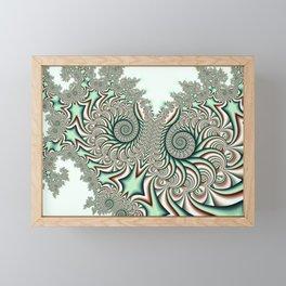 Owl Fractal Chocolate Mint Framed Mini Art Print