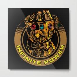 Infinity Gauntlet Metal Print