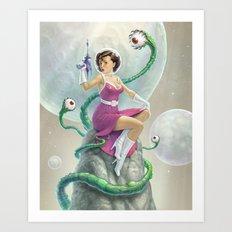 Astro Babe Art Print