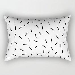 Black and white minimal 15 Rectangular Pillow