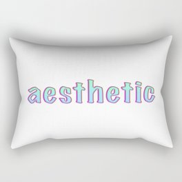 Aesthetic text vintage letters, grunge Rectangular Pillow