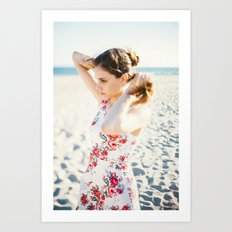 Beach Hair Art Print
