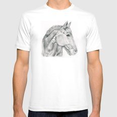 Horse Mens Fitted Tee MEDIUM White
