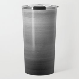 Touching Black Gray White Watercolor Abstract #1 #painting #decor #art #society6 Travel Mug