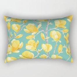 Yellow Magnolia Spring Bloom Rectangular Pillow