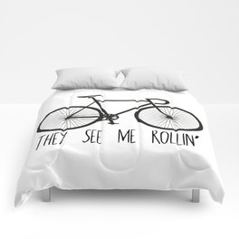 They See Me Rollin' Bicycle - Men's Fixie Fixed Gear Bike Cycling Comforters