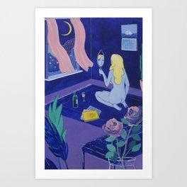 Melancholy Babe Art Print