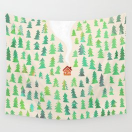 Alone in the woods Wall Tapestry