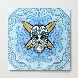 Skull bandana Metal Print