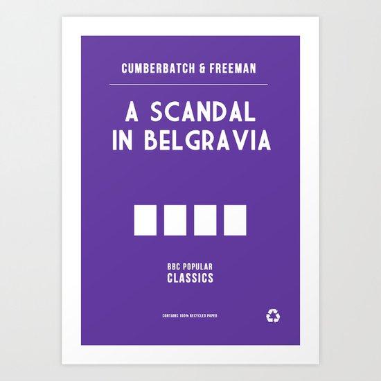 BBC Sherlock A Scandal in Belgravia Minimalist Poster Art Print