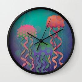 Polka Dot Jellyfish Wall Clock