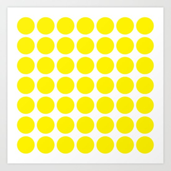 Yellow Spot Pattern Art Print
