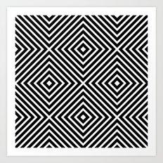 Chevron Diamond ///www.pencilmeinstationery.com Art Print
