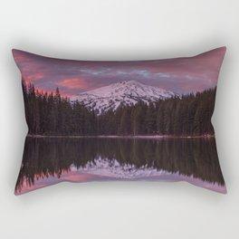 Mt. Bachelor sunrise reflection Rectangular Pillow