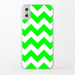 Lime Chevron Clear iPhone Case
