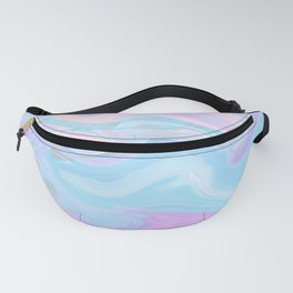 Sea Marble Candy Pattern - Violet, Aqua and Blue Fanny Pack