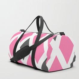 Pink and Gray Diamonds Duffle Bag