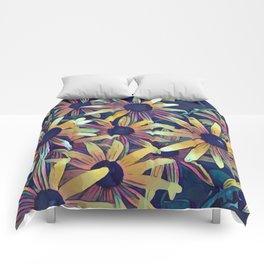 Artistic Black Eyed Susans Comforters