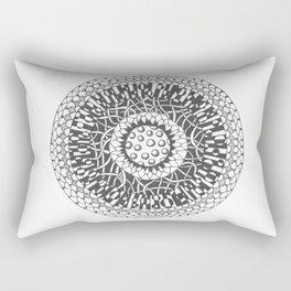 Tangle Mandala Rectangular Pillow
