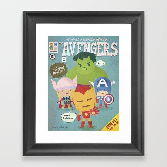 avengers fan art Framed Art Print