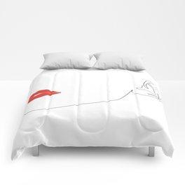 Red lip Comforters