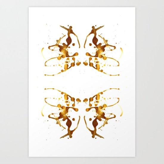 Symmetria Gold 1 Art Print