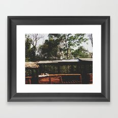 Tribal Villager's Stall Framed Art Print