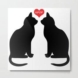 KPOP Cats Love Metal Print