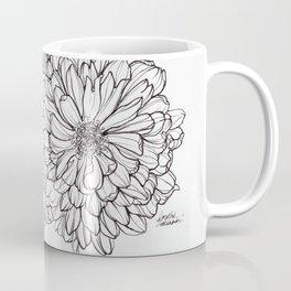 Ink Illustration of Summer Blooms Coffee Mug