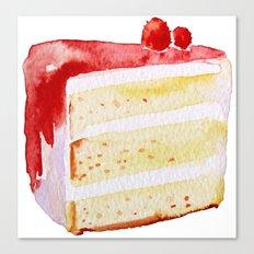 Cherry Cake Canvas Print