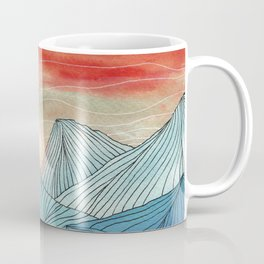 Lines in the mountains IV Coffee Mug