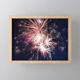 Fireworks Framed Mini Art Print