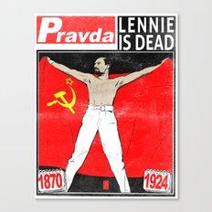 LENNIE IS DEAD Canvas Print