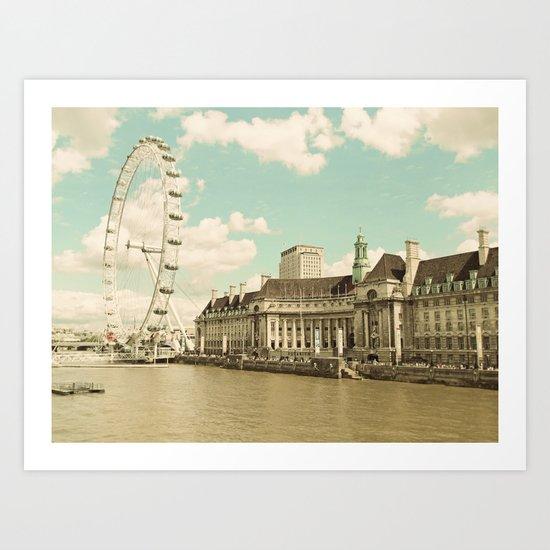 London Eye Love You Art Print