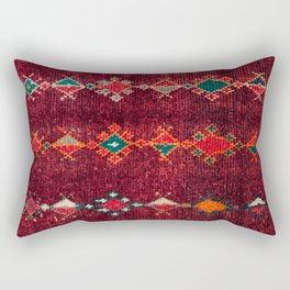 -A8- Colored Traditional Moroccan Carpet Artwork. Rectangular Pillow