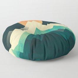Ablaze on cold mountain Floor Pillow