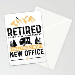 Retired Under New Management You'll Find Me In My New Office Stationery Cards