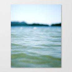 Wave Bokeh The Deep End Canvas Print