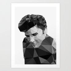 Elvis Presley - Digital Triangulation Art Print