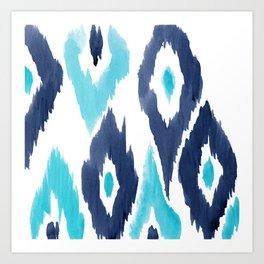 Malibu Ikat Art Print