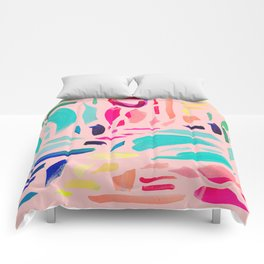 Brush Gems 1 - A deconstructed painting Comforters