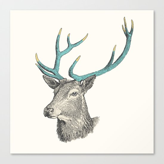 Party Animal - Deer Canvas Print